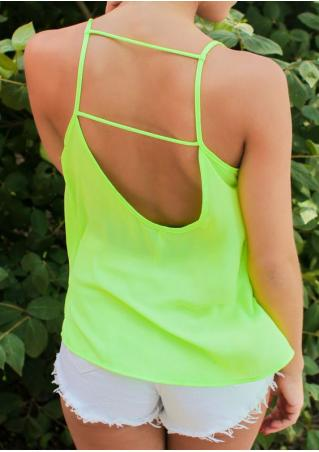 Solid Backless Camisole