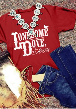 Lonesome Dove Texas T-Shirt without Necklace
