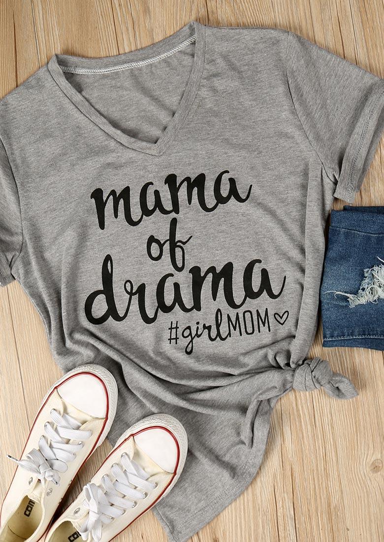 Mama Of Drama T Shirt Bellelily