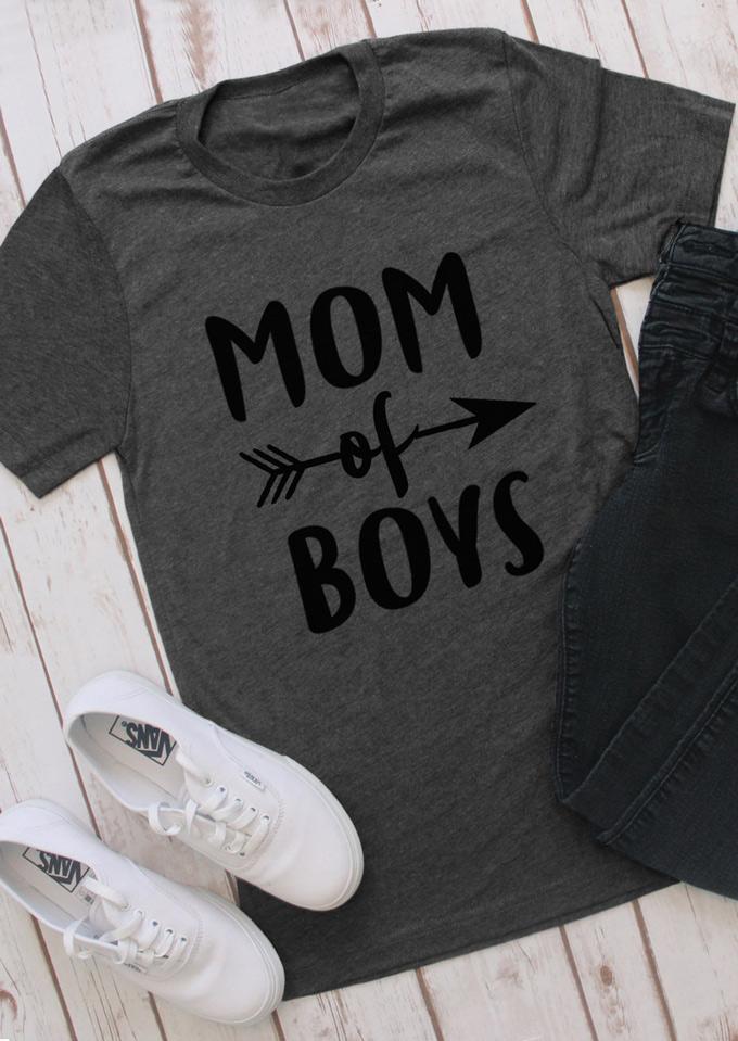 f0f6925e0 Mom Of Boys Arrow T-Shirt - Bellelily