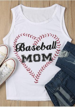 Baseball Mom Heart Tank