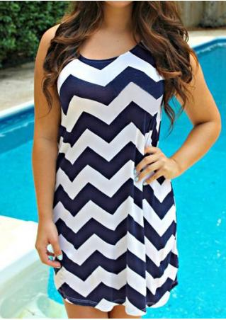Zigzag Printed Mini Dress