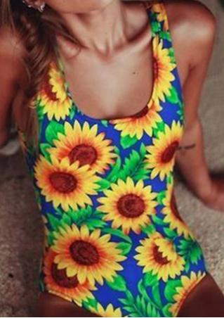 Sunflower Printed Swimsuit