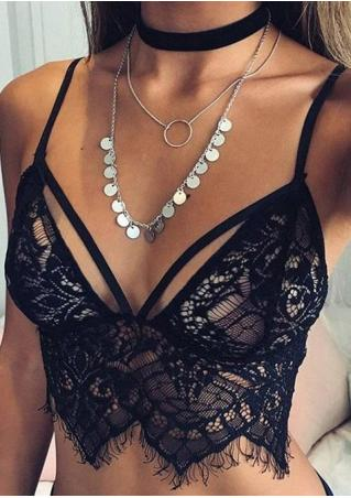 Lace Floral Bra without Necklace