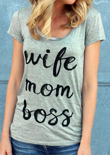 f892ce5bfe92c Wife Mom Boss T-Shirt - Bellelily