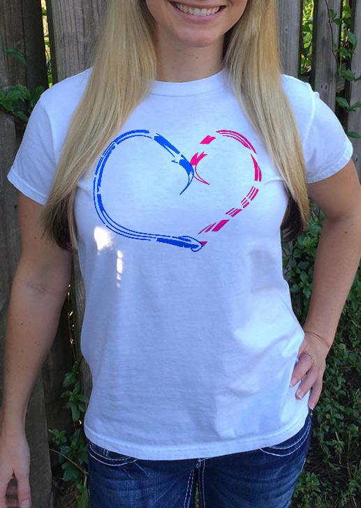 Hook Heart T-Shirt 28125