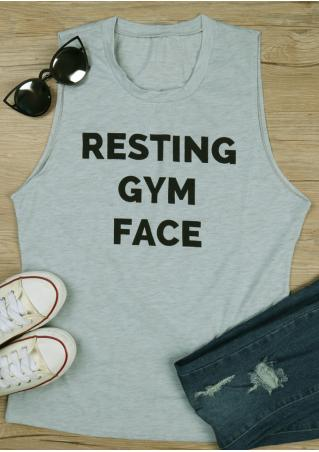 Resting Gym Face Tank