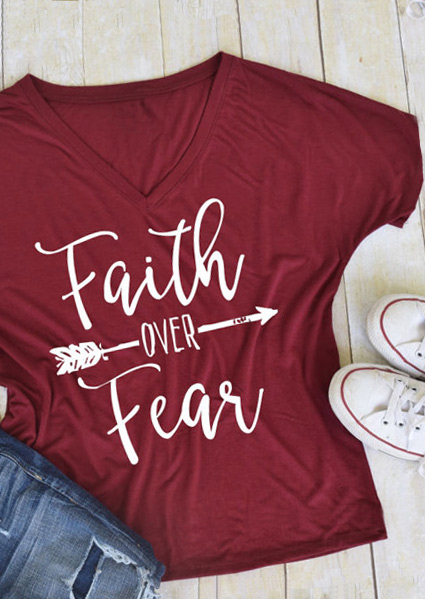 Faith Over Fear Arrow T Shirt Bellelily