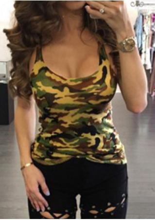 Camouflage Printed Tank