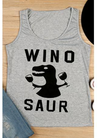 Winosaur Dinosaur O-Neck Tank