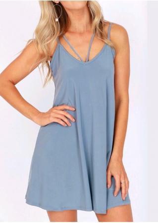 Solid Strappy Mini Dress