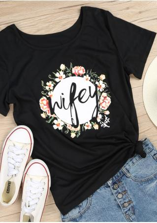 Wifey Floral T-Shirt