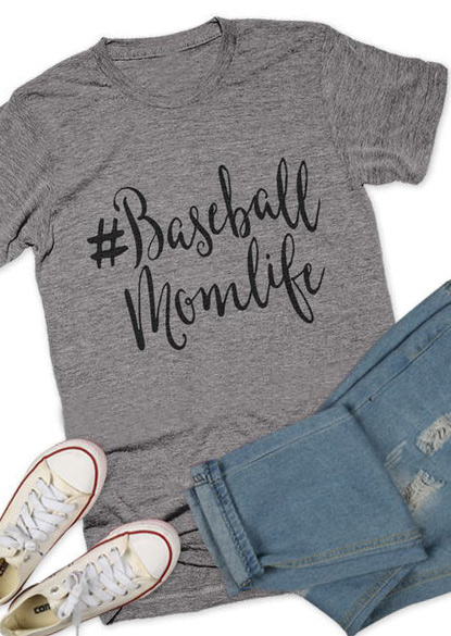 d9be868906e6 Baseball Mom Life T-Shirt - Bellelily