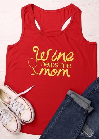 Wine Helps Me Mom Tank