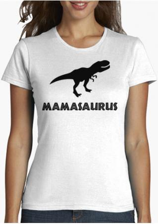 Mamasaurus Dinosaur T-Shirt