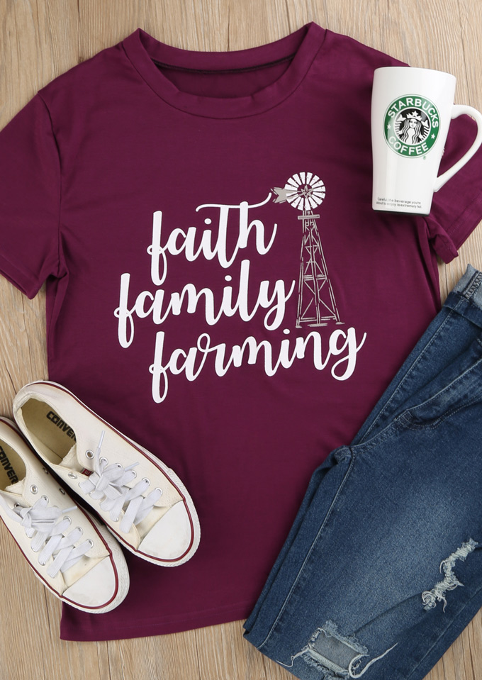 Faith Family Farm Tee UxiXPdrA