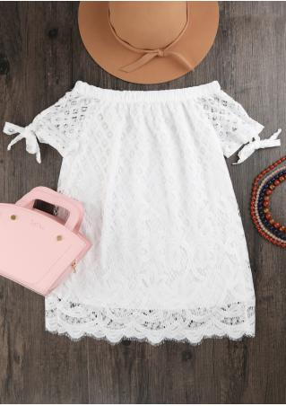 Solid Lace Off Shoulder Blouse