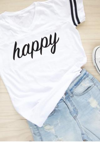 Happy Striped T-Shirt