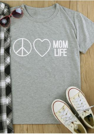 Mom Life Heart T-Shirt