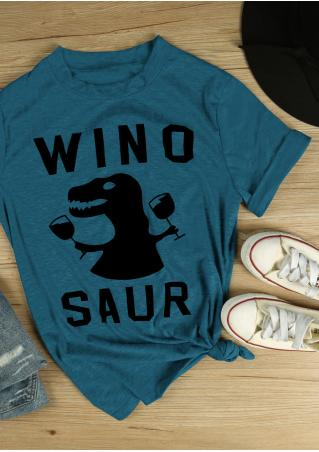 Winosaur Dinosaur Chic Short Sleeve T-Shirt