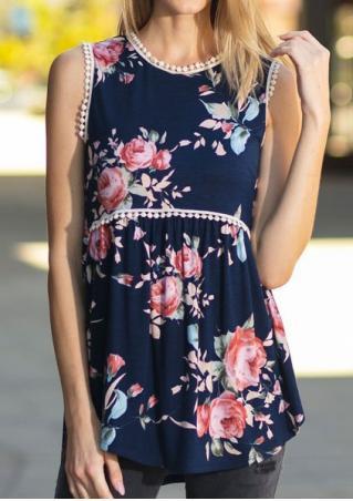 Floral Lace Tank