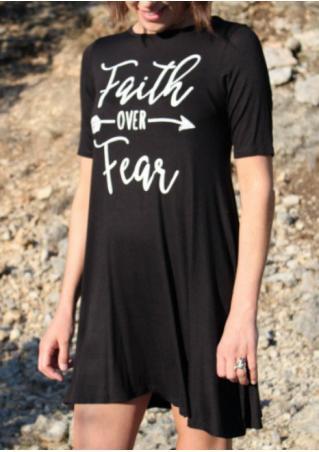 Faith Over Fear Arrow Mini Dress