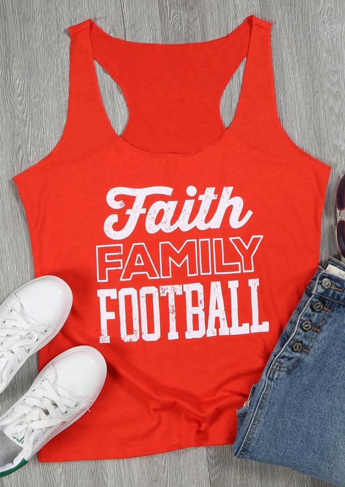 Faith Family Football Tank 120589