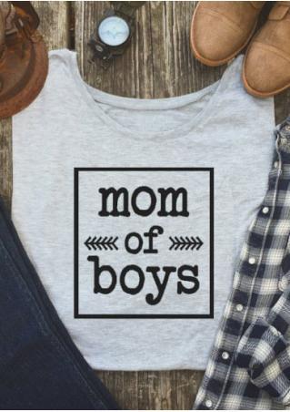 7a083ee98 Mom Of Boys Arrow O-Neck T-Shirt - Bellelily