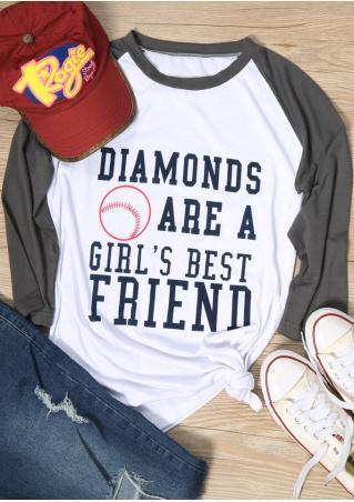 Diamonds Are A Girl's Best Friend Baseball T-Shirt