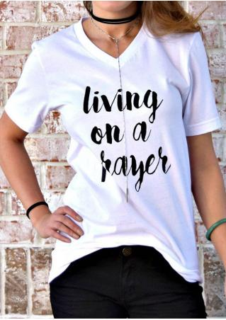 Living On A Prayer T-Shirt without Necklace