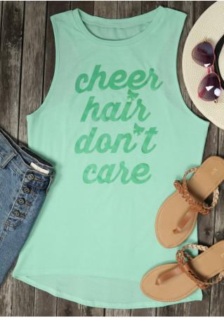 Cheer Hair Don't Care Tank