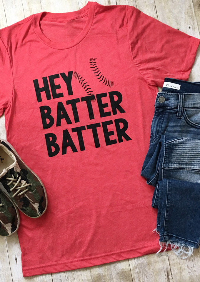 bdb4b97c4 Hey Batter Batter T-Shirt - Bellelily