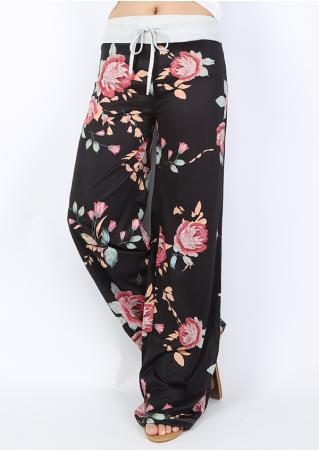 Floral Loose Wide Leg Pants