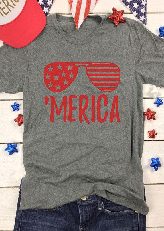 'Merica Glasses T-Shirt