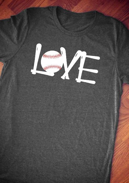 7a46237c Love Baseball T-Shirt - Bellelily