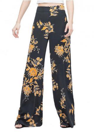 Floral Wide Leg Pants