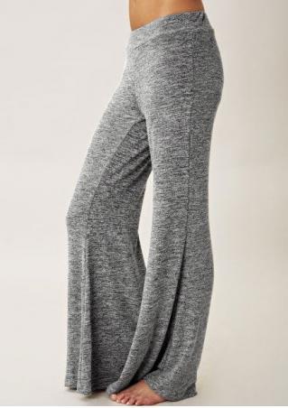 Elastic Waist Flare Pants