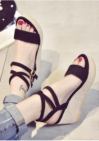 Criss-Cross Wedge Sandals