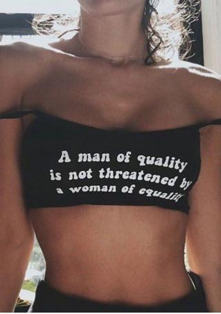 A Man Of Quality Crop Top