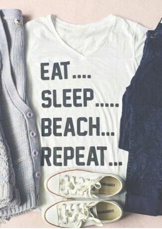 Eat Sleep Beach Repeat T-Shirt
