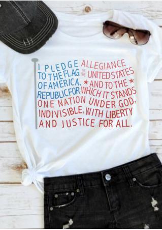 Patriotic Letter T-Shirt