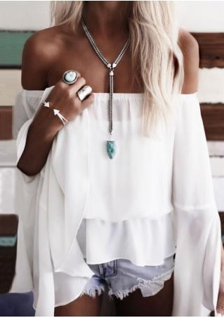 Solid Off Shoulder Blouse without Necklace