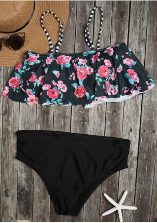 Floral Flouncing Bikini Set