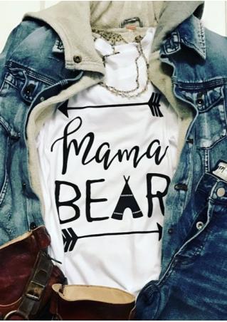 Mama Bear Arrow O-Neck T-Shirt