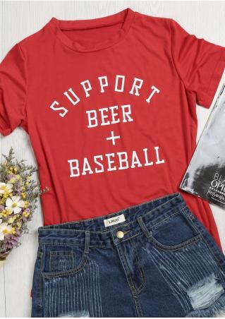 Support Beer Baseball T-Shirt