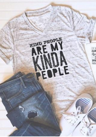 Kind People Are My Kinda People V-Neck T-Shirt