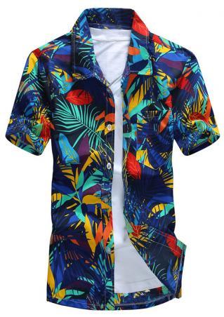 Leaf Pocket Button Short Sleeve Shirt