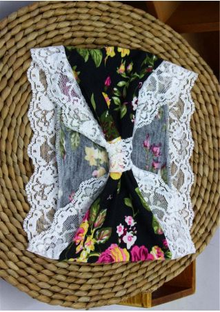 Floral Lace Splicing Fashion Headband