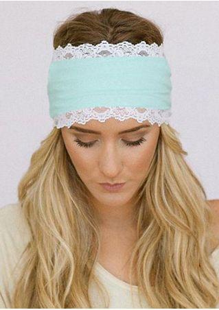 Lace Floral Splicing Sport Headband