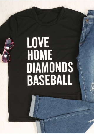 Love Home Diamonds Baseball T-Shirt